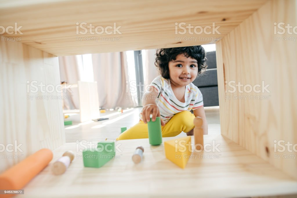 Cute baby face stock photo