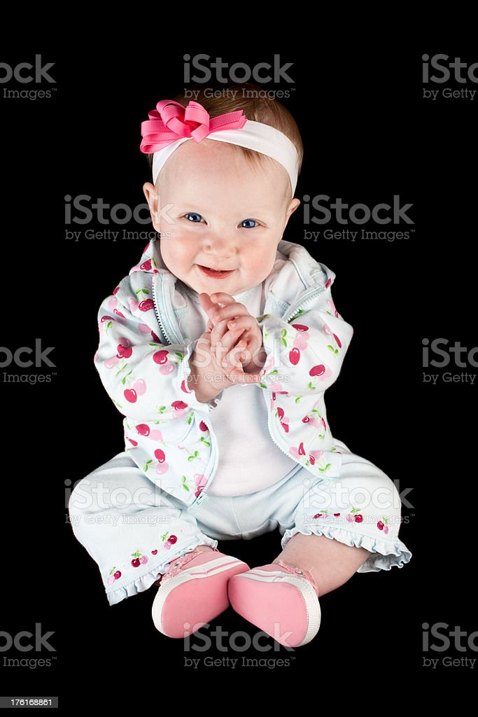 Cute Baby Girl Clapping royalty-free stock photo