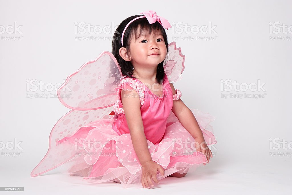 Cute baby girl in pink fairy Halloween costume royalty-free stock photo  sc 1 st  iStock & Cute Baby Girl In Pink Fairy Halloween Costume Stock Photo u0026 More ...