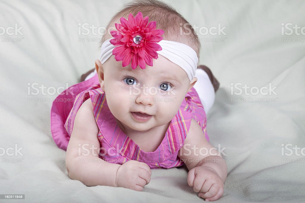 Cute Baby Girl in Pink royalty-free stock photo