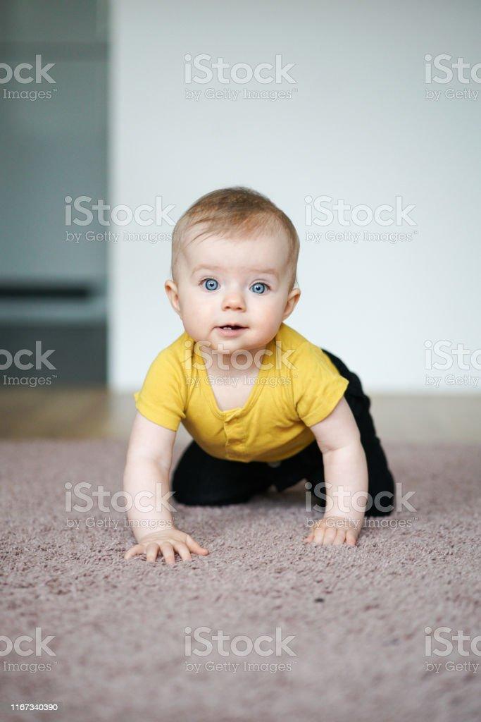 Preschool baby at home