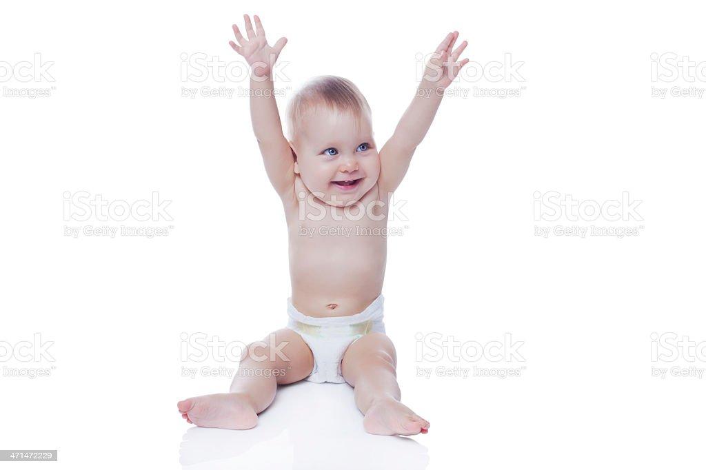 Cute baby girl stock photo