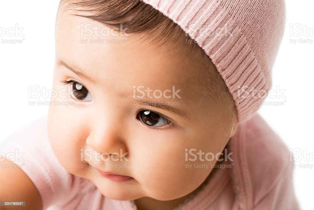 Cute baby girl stock photo