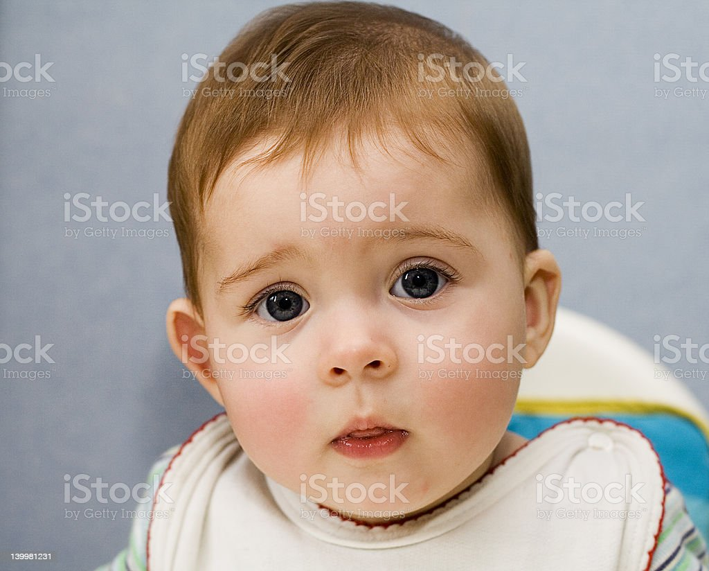 cute baby girl with big eyes stock photo & more pictures of