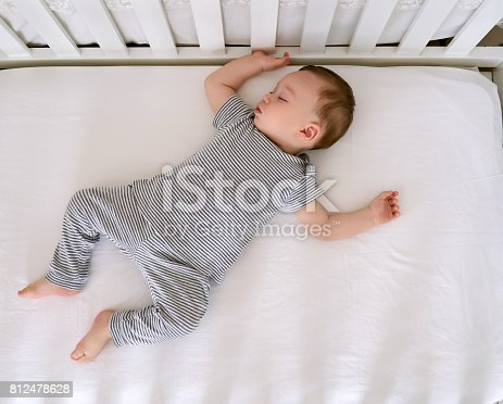 Cute baby is sleeping