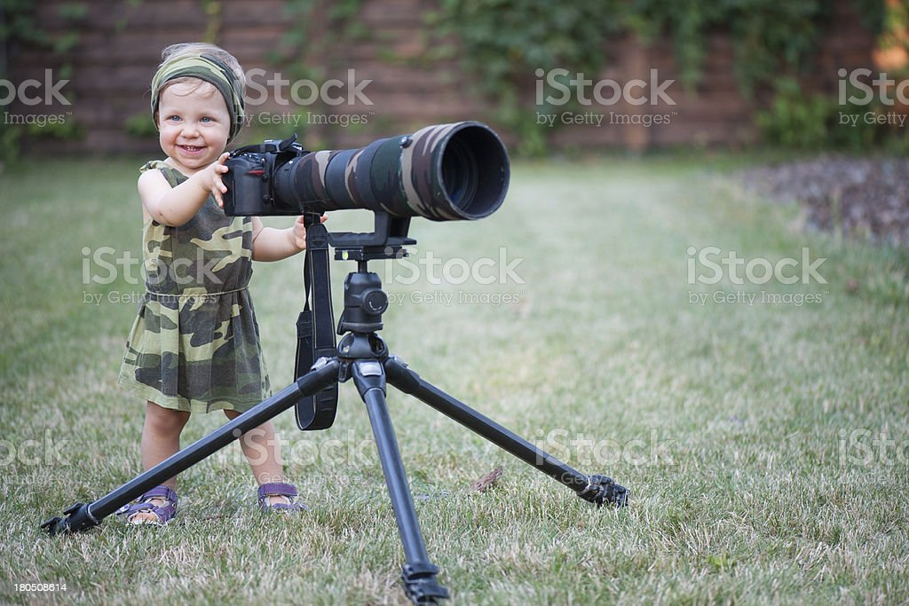 Cute Baby Photographer royalty-free stock photo