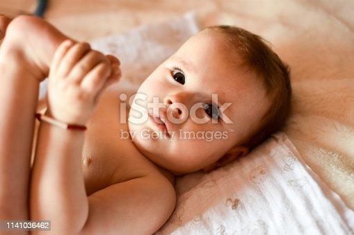 istock Cute baby 1141036462