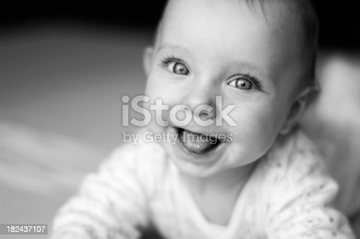 istock Cute baby 182437107