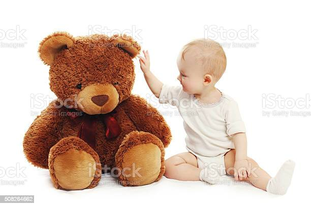 Cute baby playing with big teddy bear on white background picture id508264662?b=1&k=6&m=508264662&s=612x612&h=ebcweuynegq1jeazs7cai3c fqow1cte92ozvsi rnm=