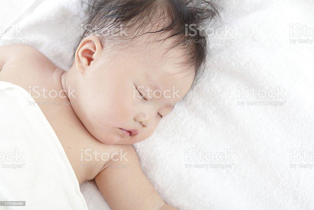 cute baby sleep royalty-free stock photo