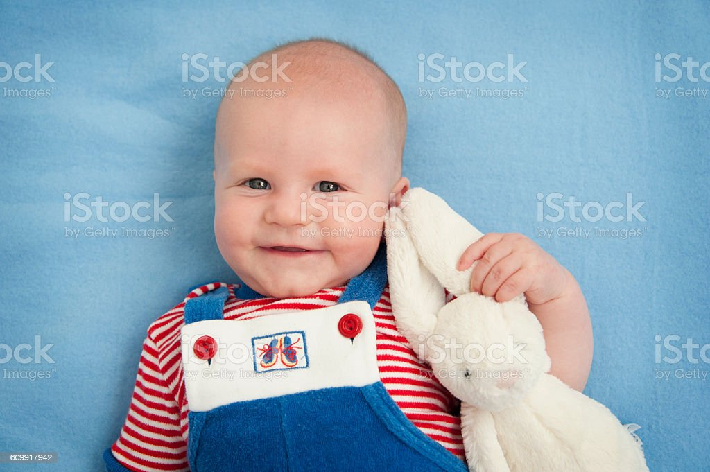 cute baby with toy stock photo