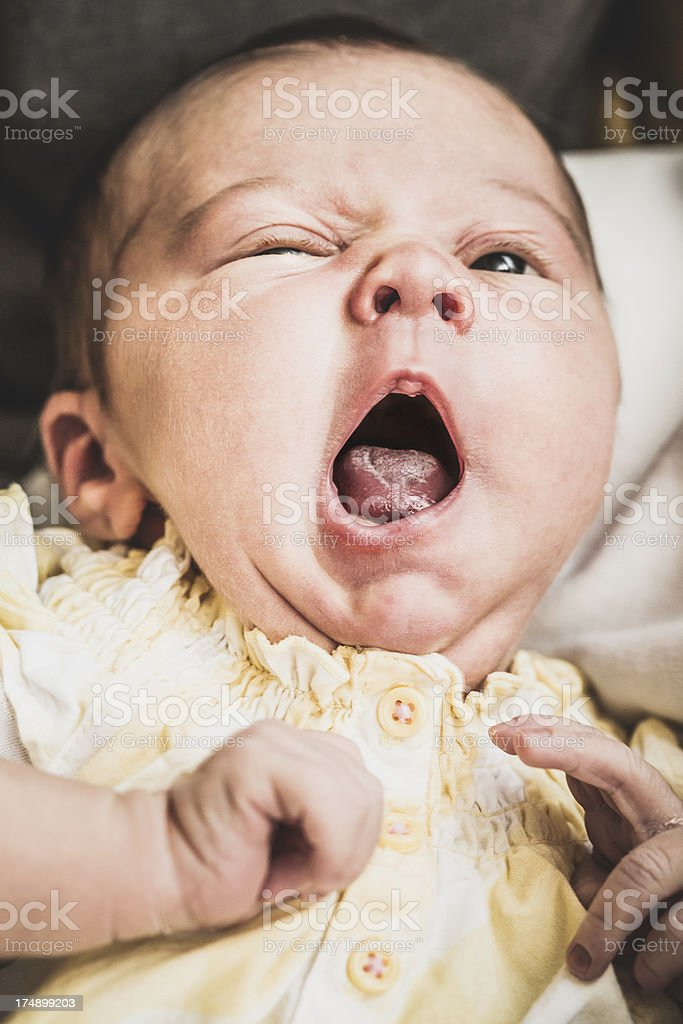 Cute Baby Yawning royalty-free stock photo