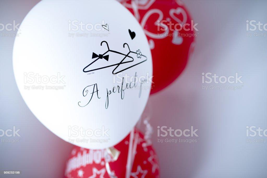 Cute baloons stock photo