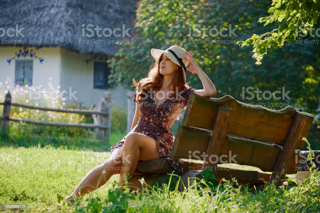 Cute Beautiful Girl With Hat stock photo