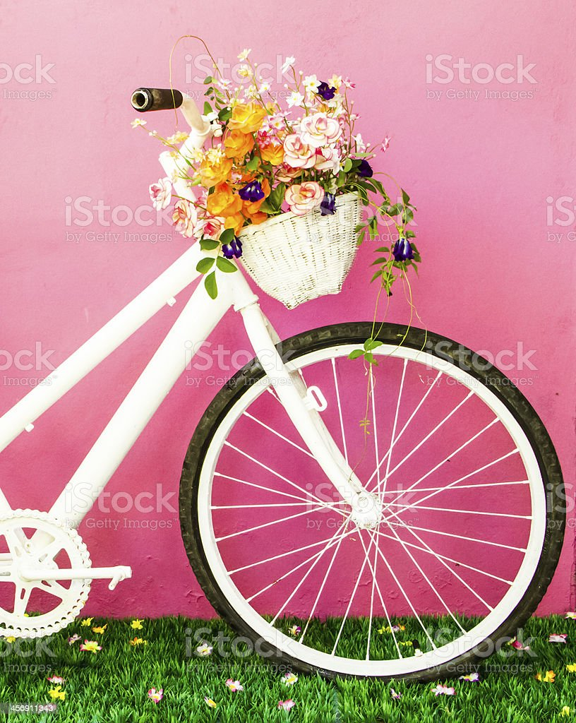 Cute bicycle stock photo