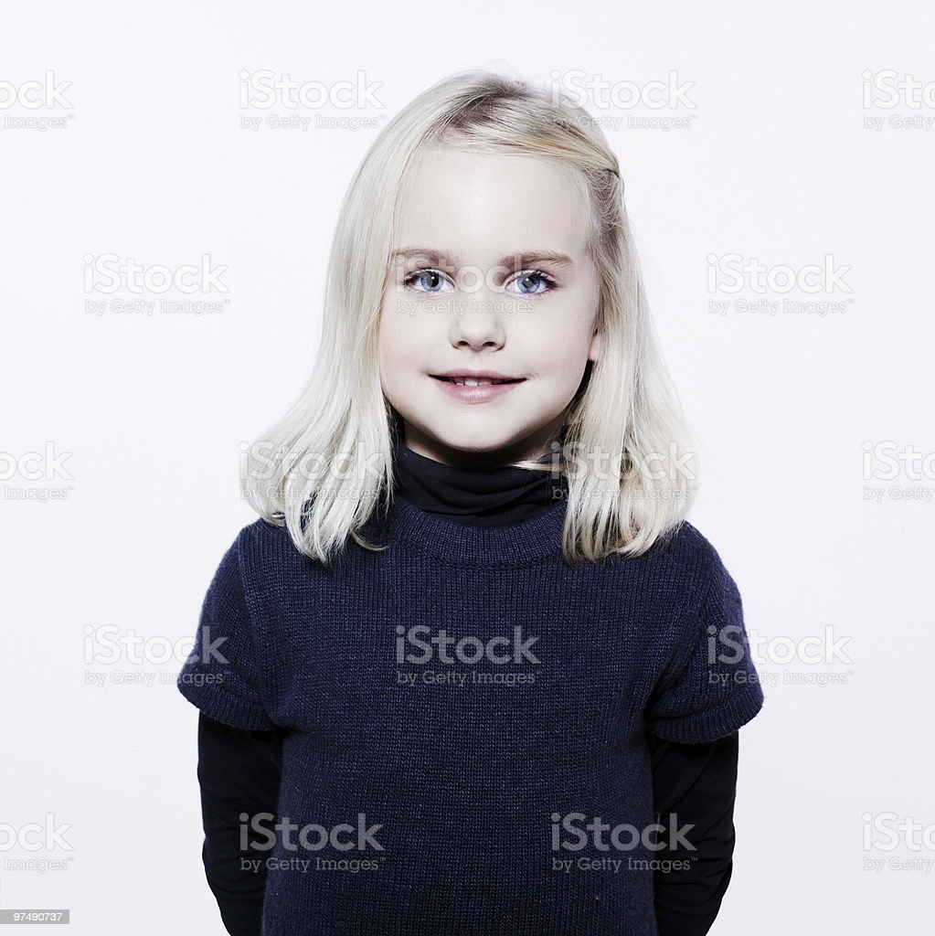 cute blond little girl royalty-free stock photo