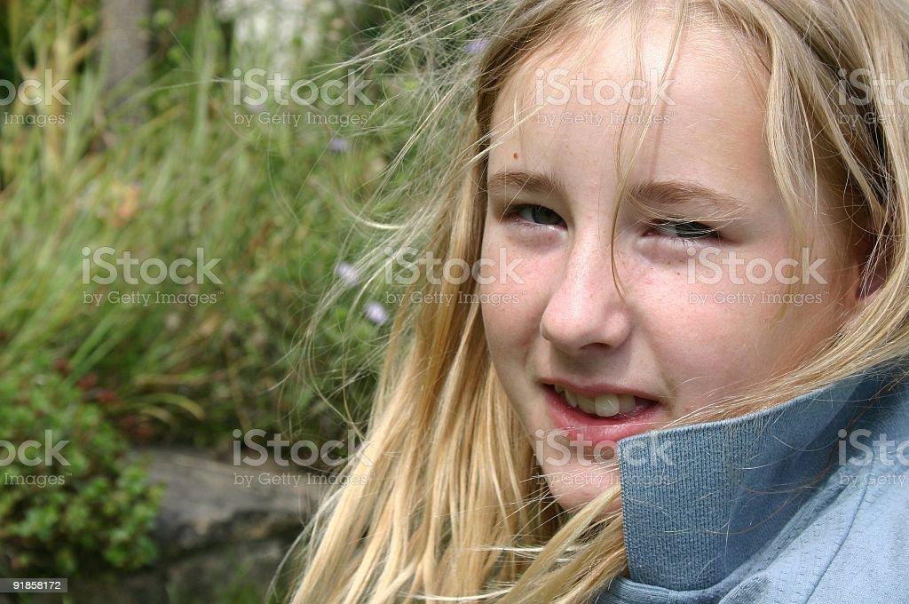 Cute blonde stock photo