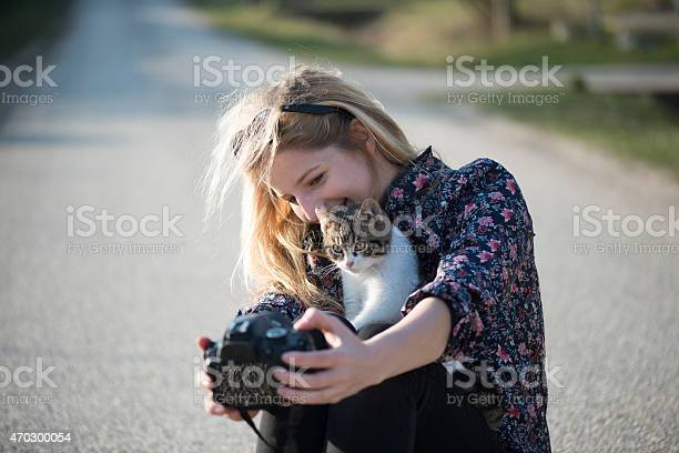 Cute blonde woman taking self portrait with a cat picture id470300054?b=1&k=6&m=470300054&s=612x612&h=lecebeseoaxngkzsik53bkjxut zh4brd xo83utyeu=