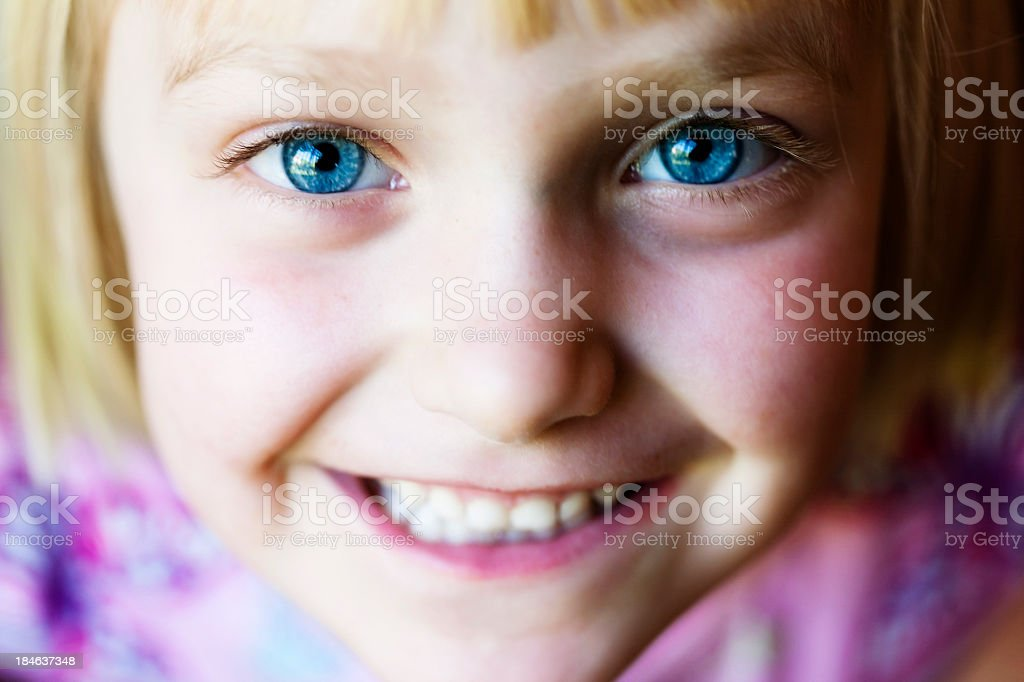 Cute Blue-Eyed Girl stock photo