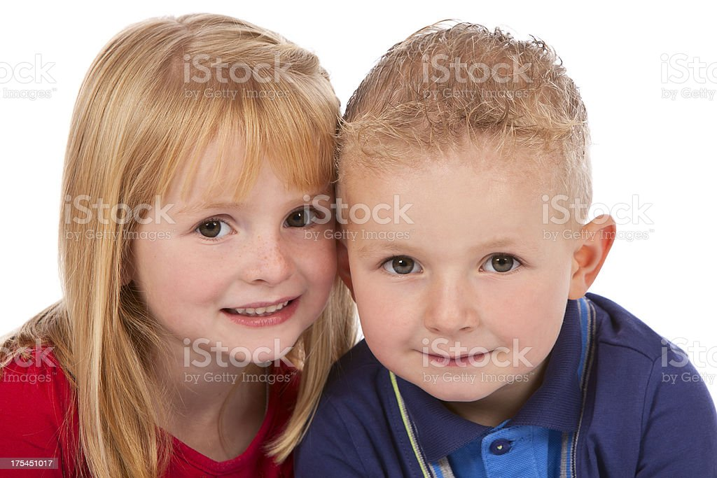 Cute Boy and Girl royalty-free stock photo