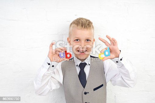 istock Cute boy kid 862692732
