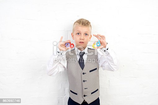 istock Cute boy kid 862692746