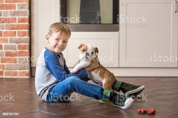 Cute boy playing with puppy english bulldog picture id668164184?b=1&k=6&m=668164184&s=612x612&h=2hvbh8hueu4mqll3j4cb1s3qa2ibt6i2bwn zmj92 s=