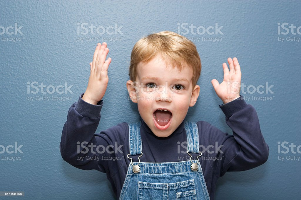 Cute Boy with Expression stock photo