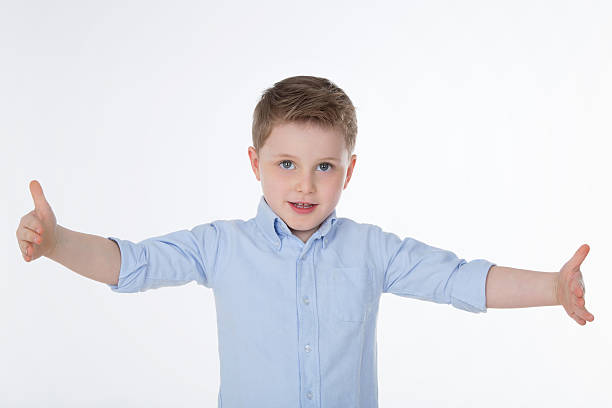 cute boy with shirt stock photo