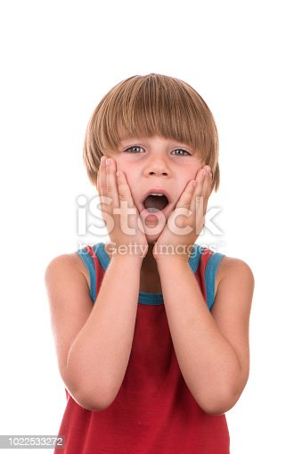 istock Cute Boy With Surprised Face 1022533272