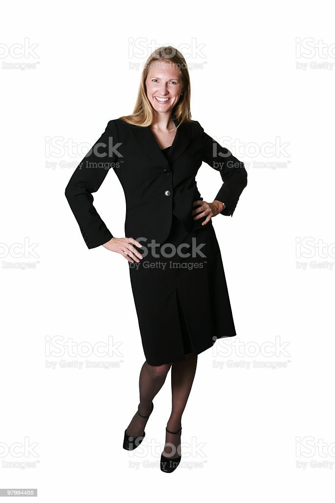 Cute business woman royalty-free stock photo