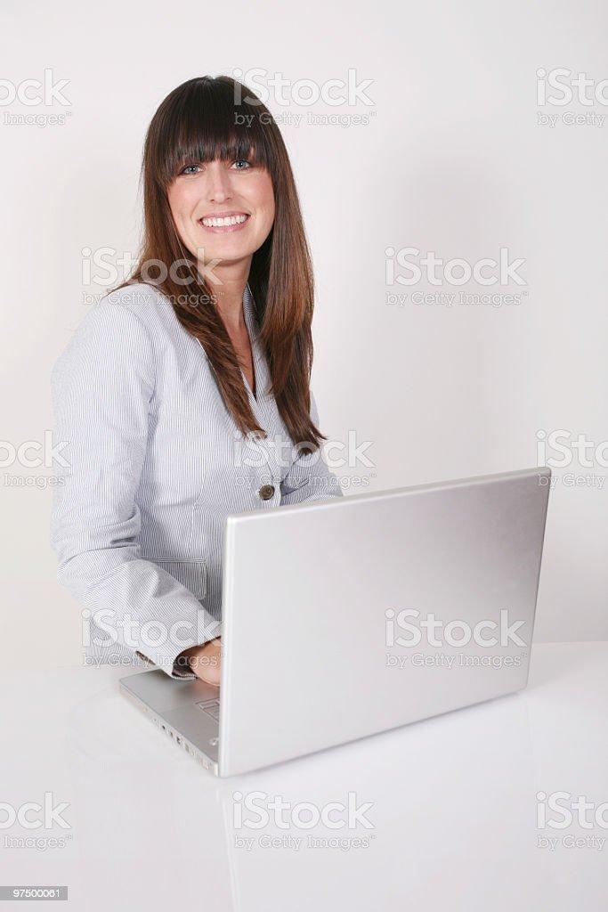 Cute businesswoman royalty-free stock photo