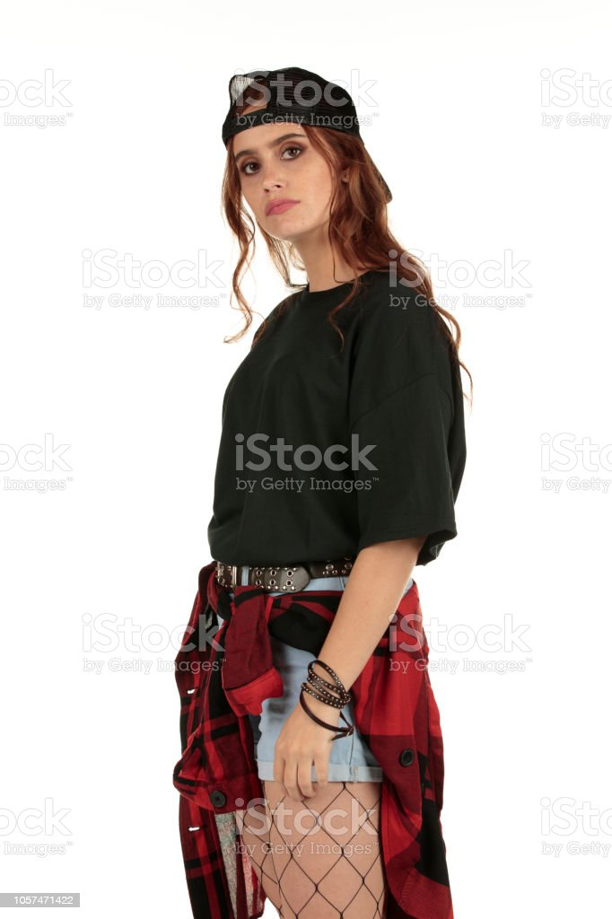 Rock Una Grunge Pero Lindo Con Mujer Camiseta Punk Distante Vestida rBodCxe