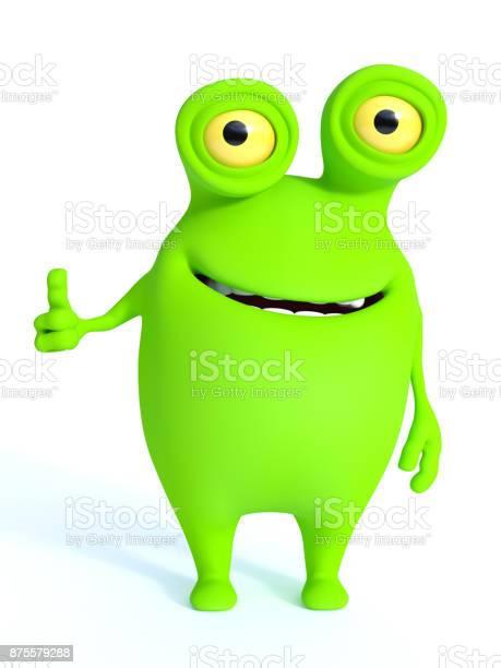 Cute charming green cartoon monster doing a thumbs up picture id875579288?b=1&k=6&m=875579288&s=612x612&h= xptw tom94wwzq r86k2nmx3mbuftgzylnon9h3ed8=