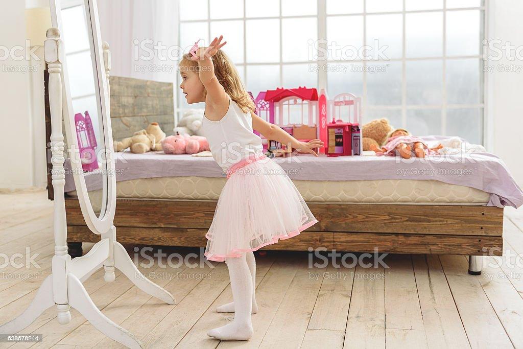 Cute Child Playing In Her Bedroom Stock Photo Download Image Now Istock