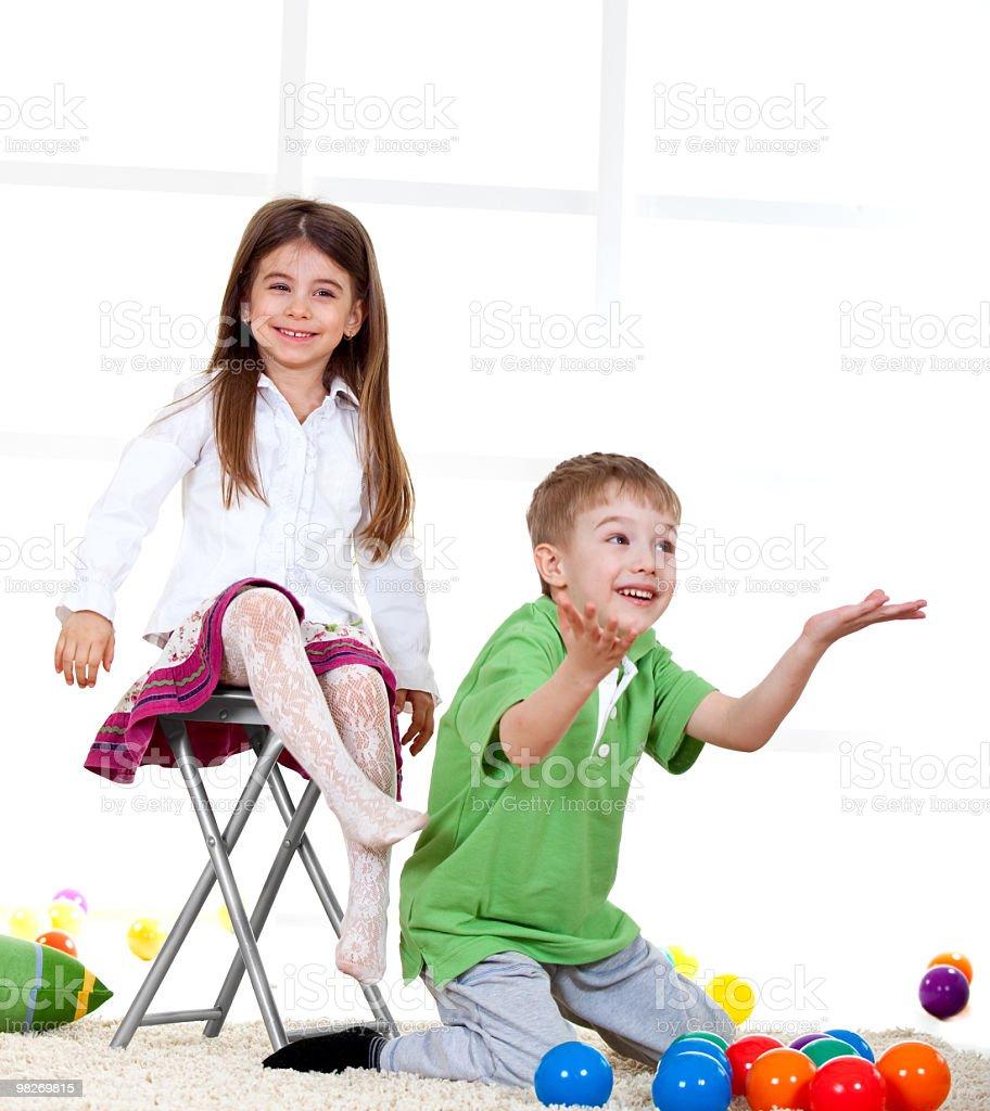 Cute children having fun royalty-free stock photo