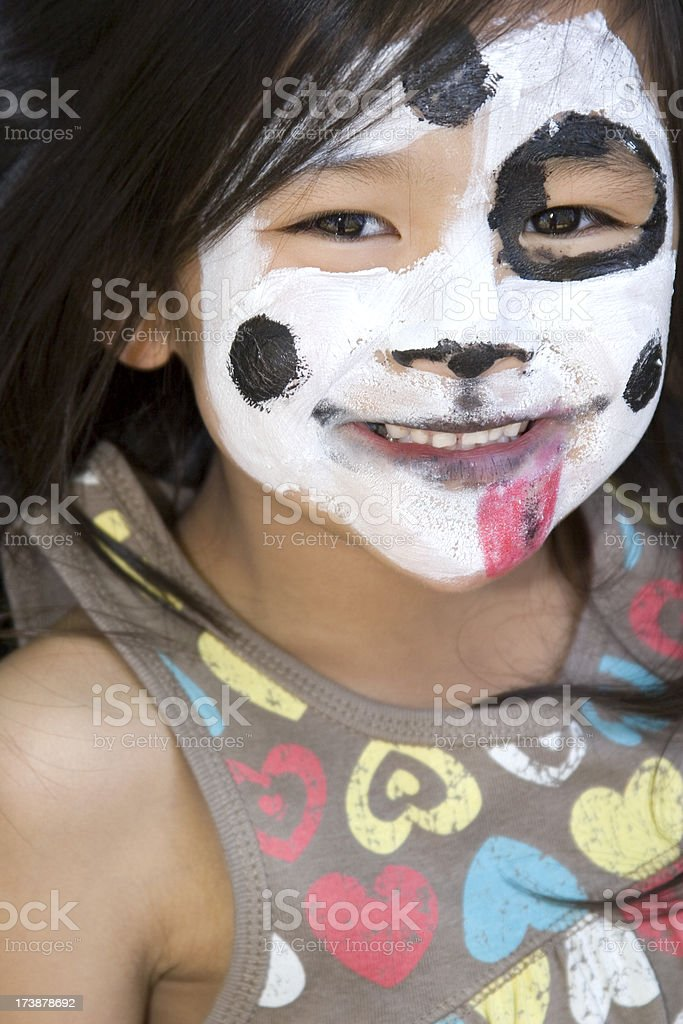 Cute Chinese girl with face painted royalty-free stock photo