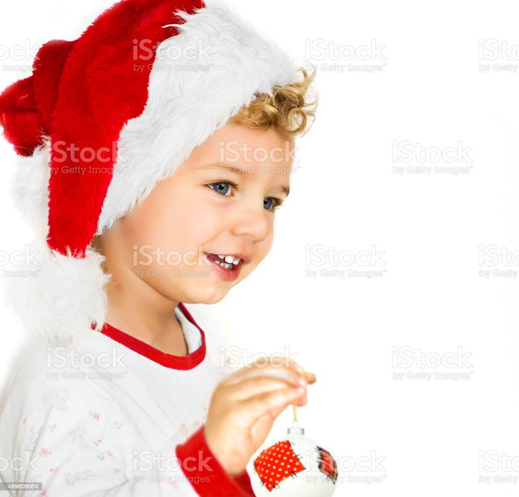 Cute Christmas Child stock photo