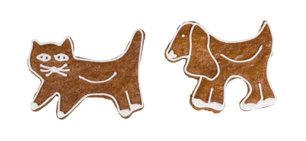 giro priánik de natal em forma de gato e de cão. isolado no fundo branco - cachorro desenho - fotografias e filmes do acervo