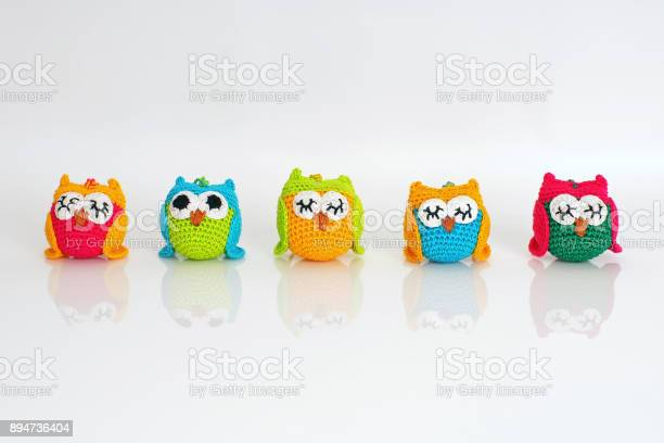 Cute colorful handmade knitted owls placed on a white background picture id894736404?b=1&k=6&m=894736404&s=612x612&h=edhvmw6ncfhyzwq5h1b gnfskdsdgfqrr 601jobolw=