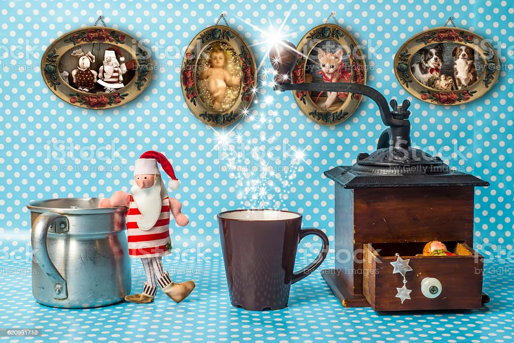 Cute composition of Christmas things foto royalty-free