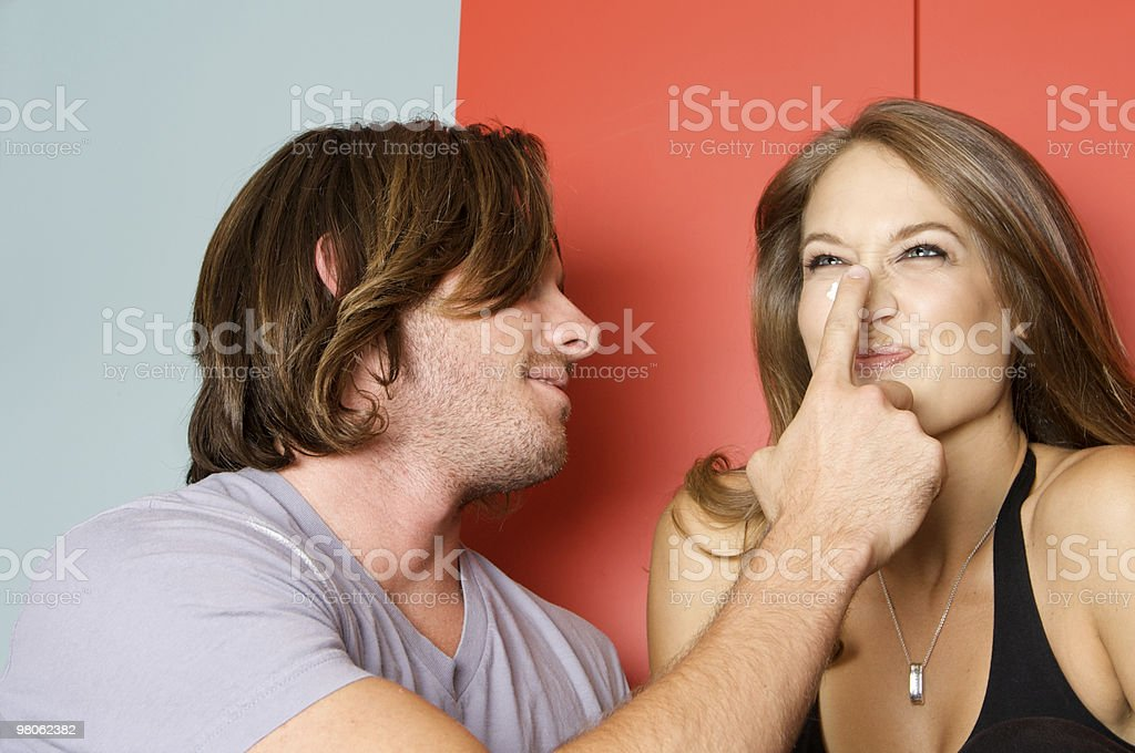 Cute Couple Flirting royalty-free stock photo