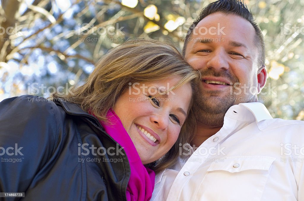 cute couple on a Fall day royalty-free stock photo