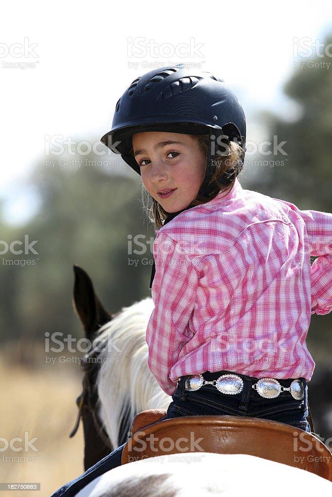 Cute Cowgirl stock photo