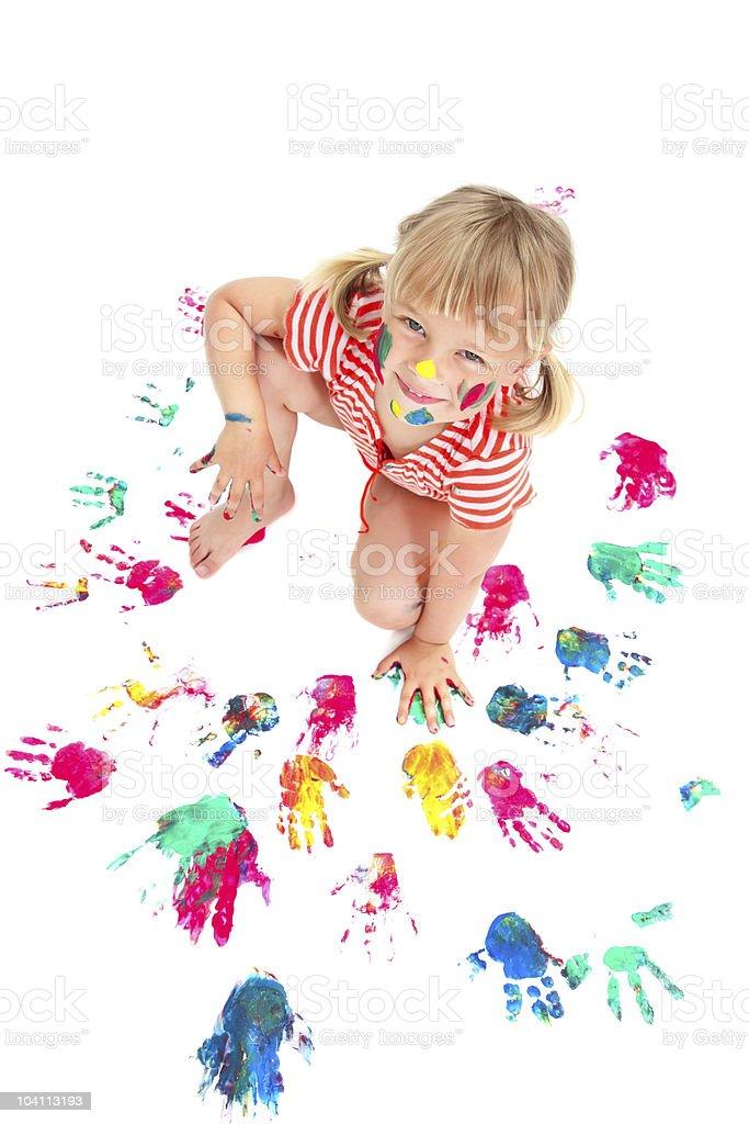 Cute Creative Little Girl royalty-free stock photo