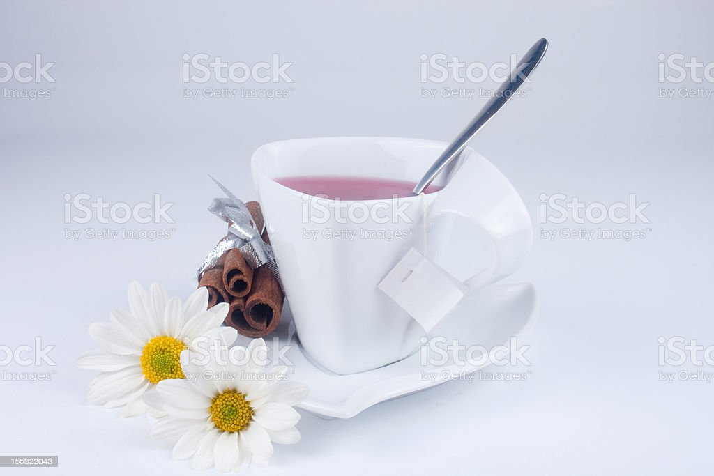 cute cup with flowers royalty-free stock photo