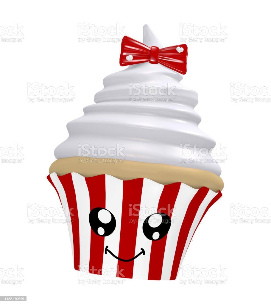 niedliche Cupcake mit Sahneplatte – Foto