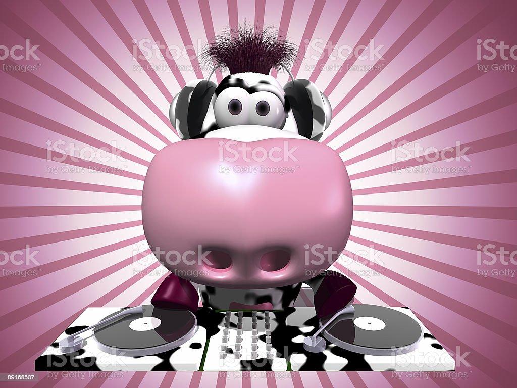 Cute DJ Cow royalty free stockfoto