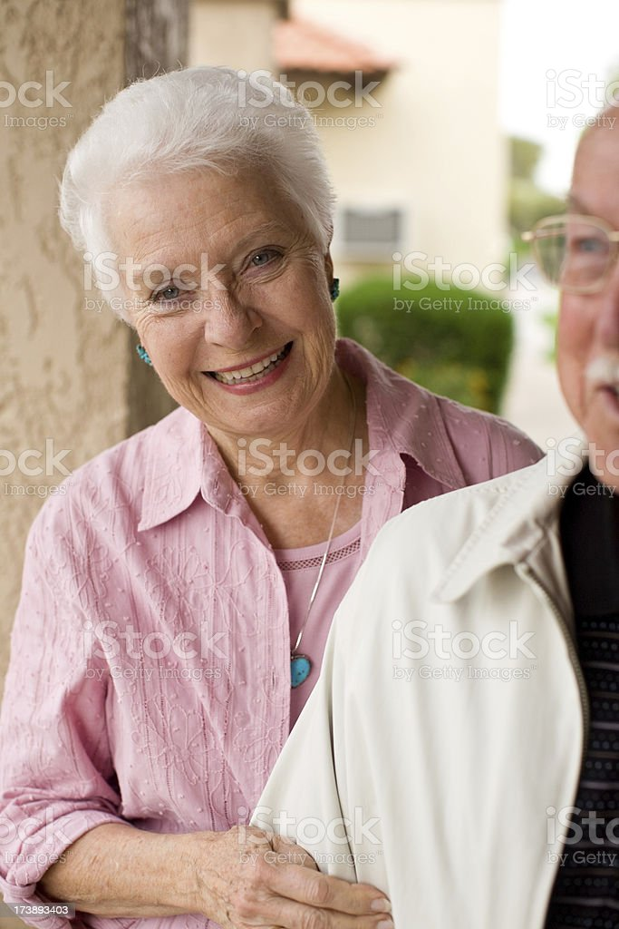 cute elderly lady and her husband royalty-free stock photo