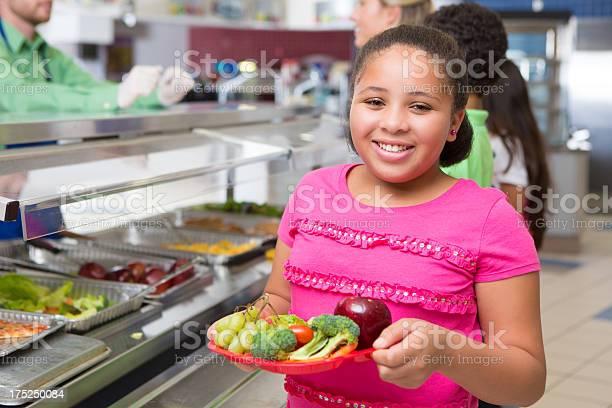 Cute elementary age girl choosing healthy food in school cafeteria picture id175250084?b=1&k=6&m=175250084&s=612x612&h=qutwg3g33uq4dcozm4mllok83jdvmucijfe0qhlrm1m=